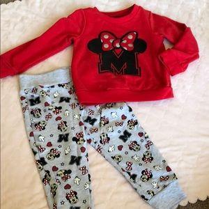 2pc Minnie Mouse set